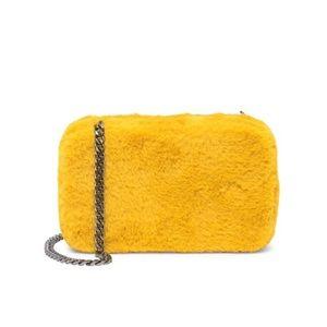 Sam Edelman Faux Fur Hardcase crossbody clutch